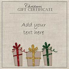 Gift Certificate Ideas For Christmas Free Christmas Gift Certificate Template Customize