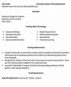 Best Teacher Resume 26 Best Teacher Resumes Free Amp Premium Templates