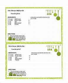 Word Template Recipe Word Recipe Template 6 Free Word Documents Download