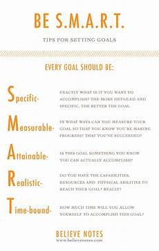 What Is A Good Career Goal Believe Notes Setting Goals 101 Keeping Your Business