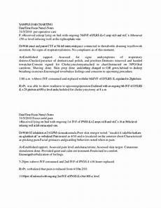 Dar Charting For Nurses Sample Fdar Charting