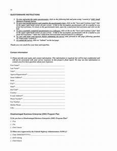 Small Business Questionnaire Appendix E Survey Questionnaire State Department Of