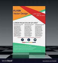 Flyer Design Examples Professional Flyer Design Template Royalty Free Vector Image