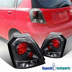 Chevy Aveo Lights 2004 2008 Chevy Aveo Hatchback Hb Black Brake Lamps