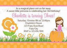 Fairy Party Invitation Wording Printable Birthday Invitations Girls Fall Autumn Party
