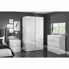 white high gloss wide 3 chest of drawers furniture123