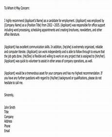 sample letter of recommendation format 40 recommendation letter format templates free