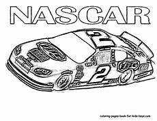 Malvorlage Rennauto Kostenlos Nascar Coloring Pages To And Print For Free