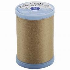 coats cotton covered quilting piecing thread 250yd camel