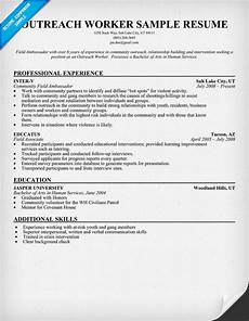 Community Outreach Cover Letters Outreach Worker Resume Sample Resumecompanion Com