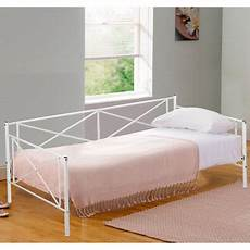 size contemporary white metal day bed frame with