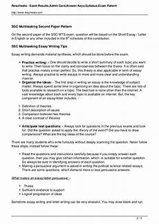 Essay Examination Ssc Mts Exam Essay Tips For Second Paper Ssc