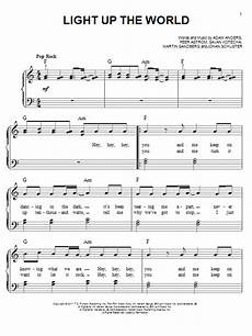 Light It Up Sheet Music Light Up The World Sheet Music Glee Cast Easy Piano