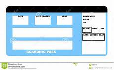 Blank Airline Ticket Template Airline Ticket Stock Illustration Illustration Of