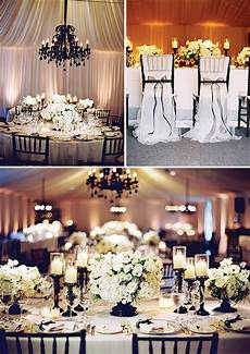 Wedding Background Black And White Picture Of Elegant Black And White Wedding Decor With Bows