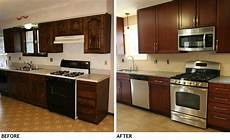 small kitchen remodel before and after on