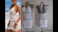 how to crochet summer dress free stitch pattern tutorial