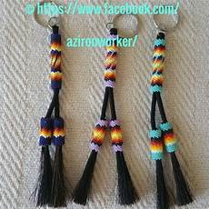 american beaded horsehair keychain key chains