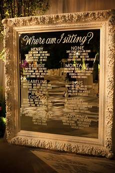 Cricut Wedding Seating Chart Etched Glass Seating Chart On Mirror Classy Is This What