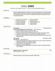 Resume Prepare Best Tax Preparer Resume Example Livecareer