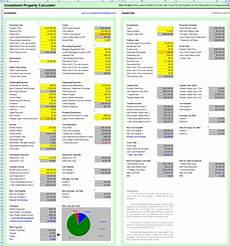 Investment Property Spreadsheet Free Investment Property Calculator Excel Spreadsheet