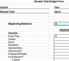 Club Budget Template Sample Club Budget Template