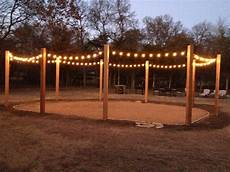 String Light Post 6x6x12 Cedar Posts Turned Into Our String Light Patio