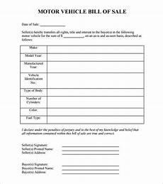 Vehicle Bill Of Sale Template Pdf 8 Auto Bill Of Sale Doc Pdf Free Amp Premium Templates