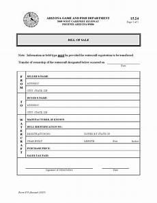 Bill Of Sale Az Free Arizona Watercraft Bill Of Sale Form Download Pdf