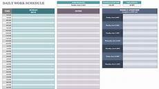 Daily Schedule Excel Template Daily Work Schedule Template Task List Templates