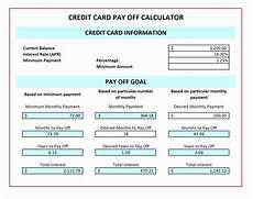 Credit Card Repayment Spreadsheet Multiple Credit Card Payoff Calculator Spreadsheet