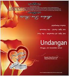 download template undangan pernikahan keren format cdr