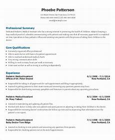 Medical Assistant Summary 10 Medical Administrative Assistant Resume Templates