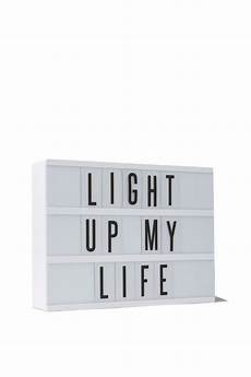 Cinema Light Box Sayings Light Box White With Black Letters Light Up Letter Box