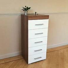 white walnut boy chest of 5 drawers bedroom