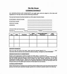 Catering Agreement Template Free 13 Sample Catering Contract Templates In Pdf Ms