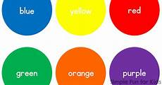 Basic Color Chart For Kids Basic Color Circles Simple Fun For Kids Vip
