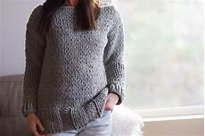 winters chunky easy knit pullover pattern in a stitch