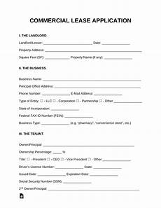 Free Lease Application Form Free Commercial Lease Application Template For A Tenant