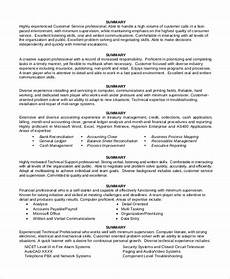 Accountant Resume Summary Free 9 Sample Resume Summary Statement Templates In Ms