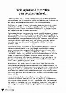 Essays About Health Mental Illness Essay Nur210 Health Sociology Thinkswap