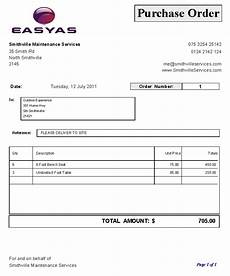 Sample Of Purchase Order Format 6 Free Purchase Order Templates Excel Pdf Formats