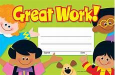 Child Award Certificate 30 Kids Great Work Award Children S Certificate Pad Ebay