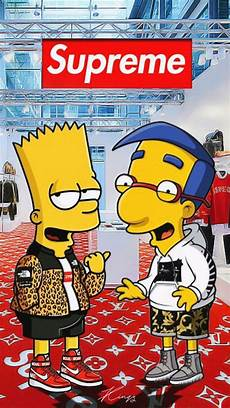 simpsons wallpaper supreme bart wallpaper supreme impremedia net