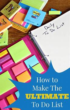 Make An Online List How To Make The Ultimate To Do List Living A Sunshine Life