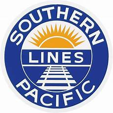 Train Company Logos Vintage Old Style Sign Magnet Southern Pacific Railroad