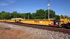 ttx railroad cn 8015 and cn 2711 moving new ttx well cars and cai