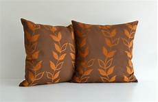 20x20 orange and brown decorative throw pillow for