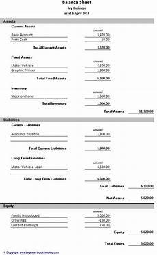 Balance Seet Sample Balance Sheet