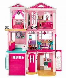 Barbie Doll House With Lights Barbie Pink Plastic Doll House Buy Barbie Pink Plastic